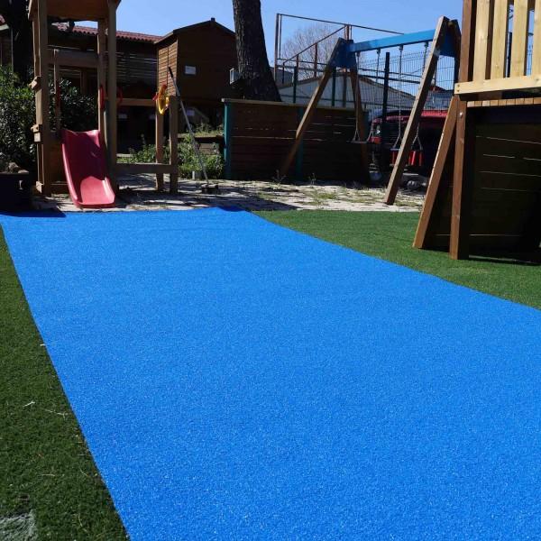 ΣΥΝΘΕΤΙΚΟΣ ΧΛΟΟΤΑΠΗΤΑΣ - ΓΚΑΖΟΝ ART GRASS CURLY - ELECTRIC BLUE - Πέλος 2,4εκ.