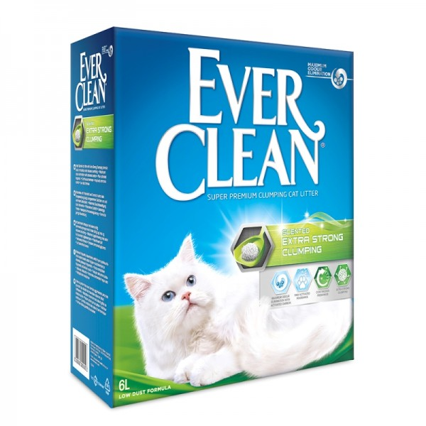 EVER CLEAN EXTRA STRONG CLUMPING CAT LITTER SCENTED ΑΜΜΟΣ ΓΑΤΑΣ 6Λ