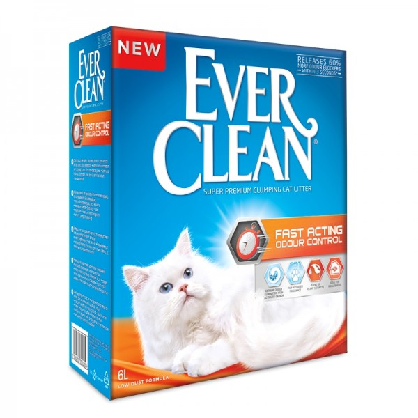 EVER CLEAN FAST ACTING ODOUR CONTROL CAT LITTER SCENTED 6Λ